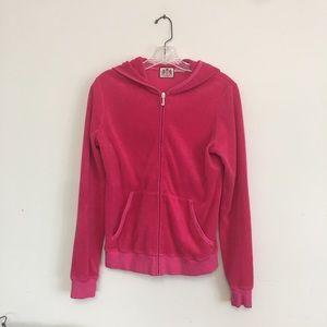 Juicy Couture Velour Pink/Fuschia jacket zip/hood.